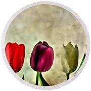 Tulips Color Round Beach Towel