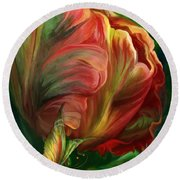 Tulips - Colors Of Paradise Round Beach Towel