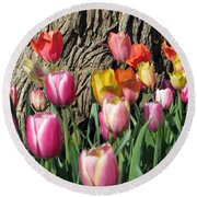 Tulips - Field With Love 07 Round Beach Towel