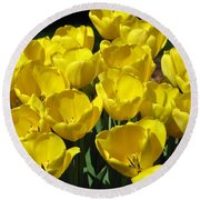 Tulips - Field With Love 17 Round Beach Towel