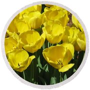 Tulips - Field With Love 18 Round Beach Towel