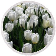 Tulips - Field With Love 19 Round Beach Towel