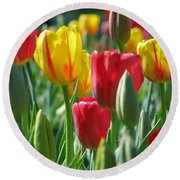 Tulips - Field With Love 22 Round Beach Towel