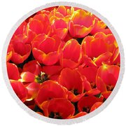 Tulips - Field With Love 28 Round Beach Towel