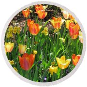 Tulips - Field With Love 41 Round Beach Towel