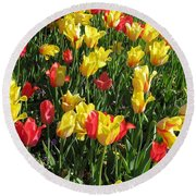 Tulips - Field With Love 49 Round Beach Towel