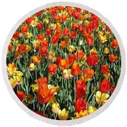 Tulips - Field With Love 51 Round Beach Towel