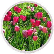 Tulips - Field With Love 54 Round Beach Towel