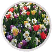 Tulips - Field With Love 58 Round Beach Towel