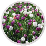 Tulips - Field With Love 60 Round Beach Towel