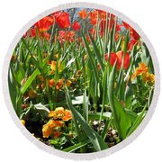 Tulips - Field With Love 64 Round Beach Towel