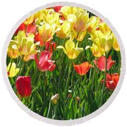 Tulips - Field With Love 65 Round Beach Towel