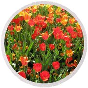 Tulips - Field With Love 68 Round Beach Towel