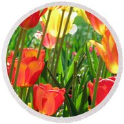 Tulips - Field With Love 69 Round Beach Towel