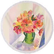 Tulips For Mother's Day Round Beach Towel