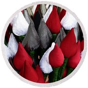 Tulips For Sale Round Beach Towel
