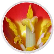 Tulips - Hearts Desire Round Beach Towel