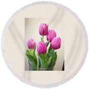Tulips In Bloom Round Beach Towel