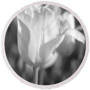 Tulips - Infrared 09 Round Beach Towel
