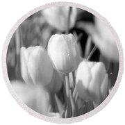 Tulips - Infrared 10 Round Beach Towel