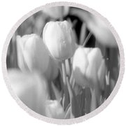 Tulips - Infrared 11 Round Beach Towel