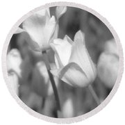 Tulips - Infrared 14 Round Beach Towel