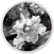 Tulips - Infrared 25 Round Beach Towel