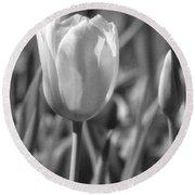 Tulips - Infrared 27 Round Beach Towel