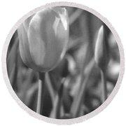 Tulips - Infrared 28 Round Beach Towel