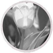 Tulips - Infrared 29 Round Beach Towel