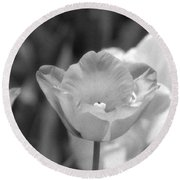 Tulips - Infrared 40 Round Beach Towel