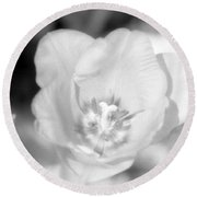 Tulips - Infrared 45 Round Beach Towel