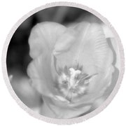 Tulips - Infrared 46 Round Beach Towel