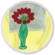 Tulips Of Love Round Beach Towel