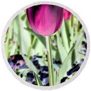 Tulips - Perfect Love - Photopower 2026 Round Beach Towel