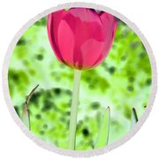 Tulips - Perfect Love - Photopower 2070 Round Beach Towel
