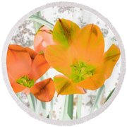 Tulips - Perfect Love - Photopower 2084 Round Beach Towel