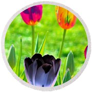 Tulips - Perfect Love - Photopower 2168 Round Beach Towel