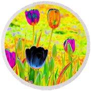 Tulips - Perfect Love - Photopower 2169 Round Beach Towel