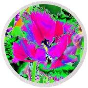 Tulips - Perfect Love - Photopower 2183 Round Beach Towel