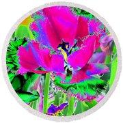 Tulips - Perfect Love - Photopower 2184 Round Beach Towel