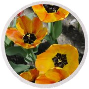 Tulips Tp Round Beach Towel