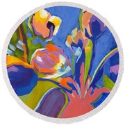 Tulip Variations  Round Beach Towel