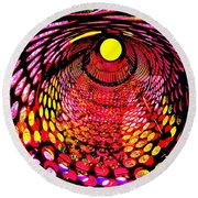 Tumbler Round Beach Towel by Robert Geary