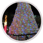 Tumbleweed Christmas Tree Round Beach Towel