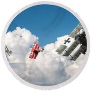 Tumult In The Clouds Round Beach Towel