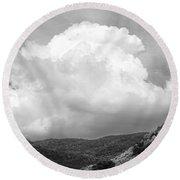 Tunbridge Vermont Storm Cloud Open Edition Round Beach Towel