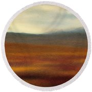Tundra Autumn Melody Round Beach Towel