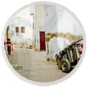 Tunisian Girl Round Beach Towel by John Wadleigh
