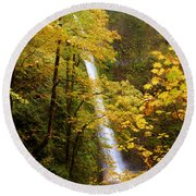 Tunnel Falls  Round Beach Towel
